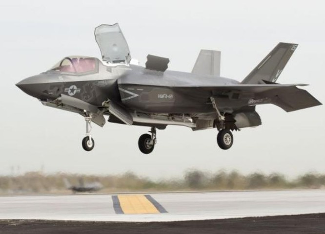 Nhật Bản đã đặt mua máy bay chiến đấu tàng hình F-35A và F-35B (trong hình) của Mỹ. Ảnh: Cankao.
