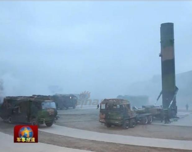 Tên lửa đạn đạo xuyên lục địa Đông Phong-31 Trung Quốc. Ảnh: Sina.
