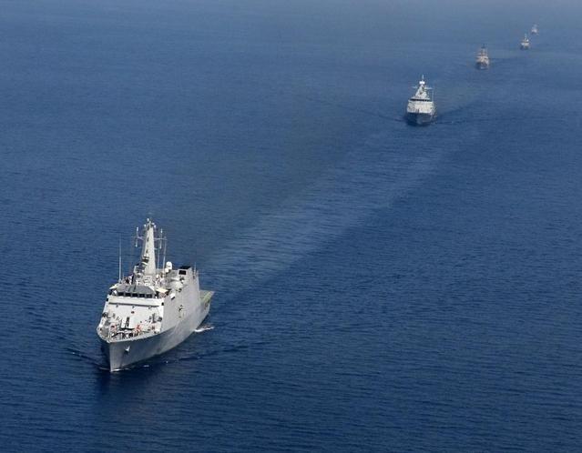 Cuộc tập trận Milan-2014 do hải quân Ấn Độ tổ chức. Ảnh: CCTV.