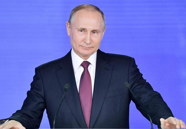 Tổng thống Nga Vladimir Putin. Ảnh: The Sun.