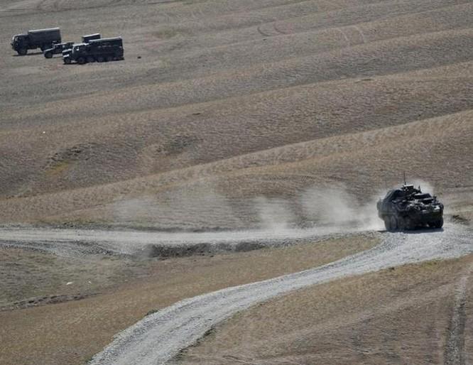Xe chiến đấu bộ binh quân đội Mỹ tham gia tập trận. Ảnh: Cankao.