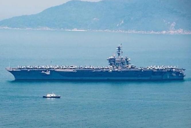 Cụm chiến đấu tàu sân bay USS Carl Vinson Hải quân Mỹ thăm Việt Nam từ ngày 5 - 9/3/2018.