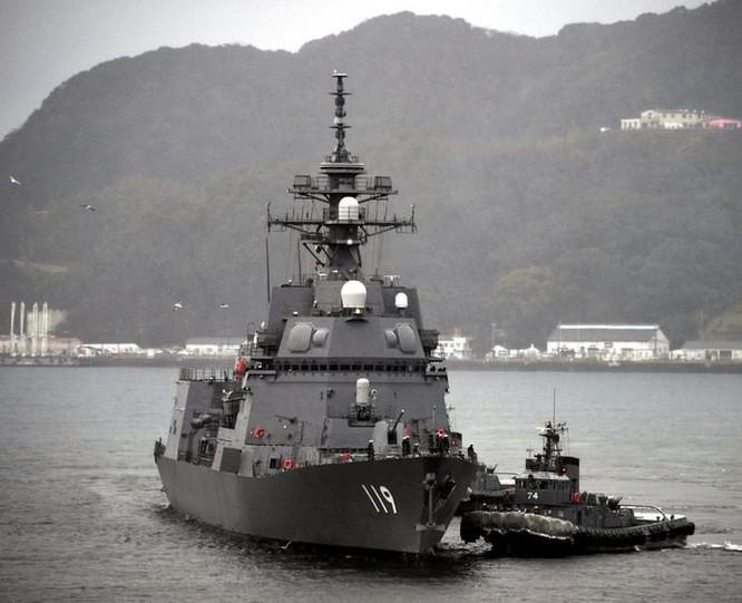 Tàu khu trục tên lửa JS Asahi số hiệu 119 của Lực lượng Phòng vệ Biển Nhật Bản. Ảnh: QQ.