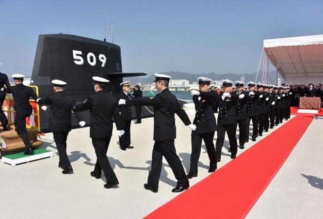 Tàu ngầm thông thường AIP JS Seiryu số hiệu 509 lớp Soryu của Lực lượng Phòng vệ Biển Nhật Bản. Ảnh: Naval Today.