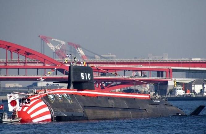 Tàu ngầm thông thường AIP JS Shoryu SS-510 lớp Soryu của Lực lượng Phòng vệ Biển Nhật Bản. Ảnh: DefPost.