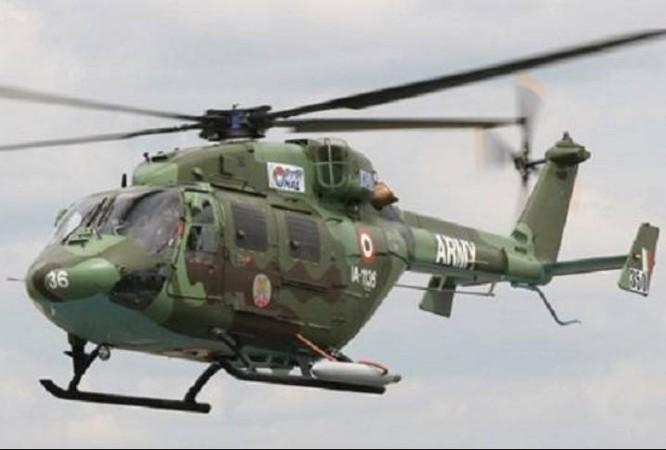 Máy bay trực thăng hạng nhẹ Dhruv do Ấn Độ tự sản xuất. Ảnh: News Nation.