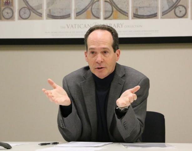 Chủ tịch Ủy ban toàn quốc thương mại Mỹ - Trung John Frisbie. Ảnh: Chinadaily.