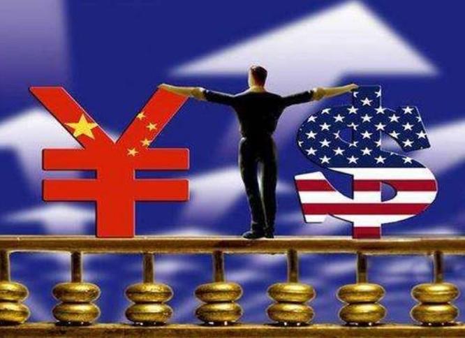 Đồng Nhân dân tệ Trung Quốc và đồng USD Mỹ. Ảnh: Sohu.