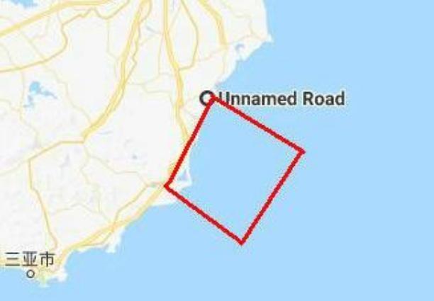 Vùng biển lân cận đảo Hải Nam bị Trung Quốc cấm đi lại phục vụ cho một cuộc tập trận quy mô lớn từ ngày 5 - 11/4/2018. Ảnh: Sohu.