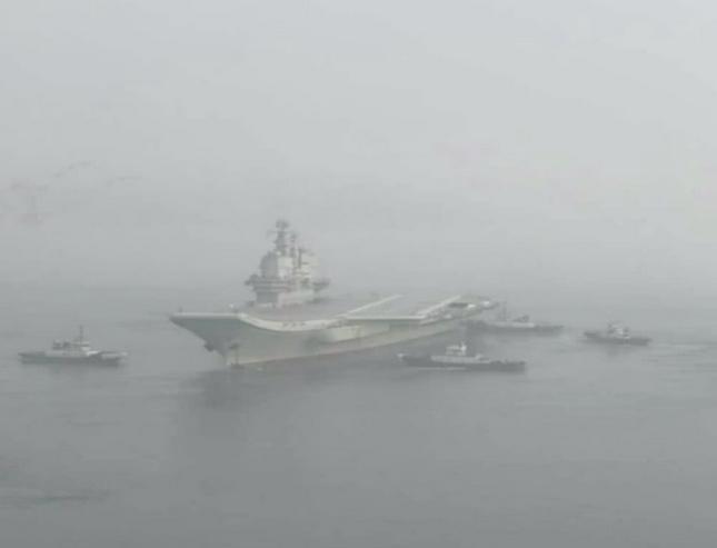 Trung Quốc cho tàu sân bay tự chế đầu tiên chạy thử ảnh 1