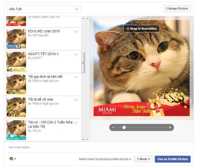 Tết Mậu Tuất thay avatar Facebook bằng từ khóa nào? - Ảnh 2
