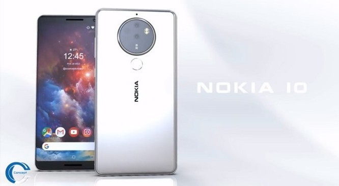 Ngắm ý tưởng Nokia 10 với thiết kế mặt lưng kính, màn hình 18:9 và 4 camera - Ảnh 1