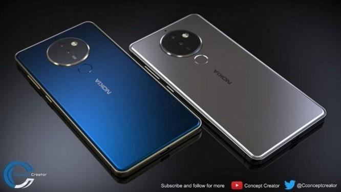 Ngắm ý tưởng Nokia 10 với thiết kế mặt lưng kính, màn hình 18:9 và 4 camera - Ảnh 3