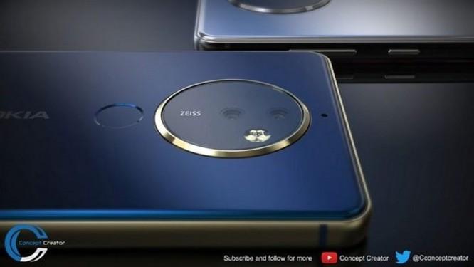 Ngắm ý tưởng Nokia 10 với thiết kế mặt lưng kính, màn hình 18:9 và 4 camera - Ảnh 4