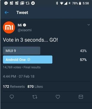 Xiaomi tức tốc xóa bài thăm dò ý kiến người dùng 'thích MIUI hay Android One hơn' - Ảnh 2