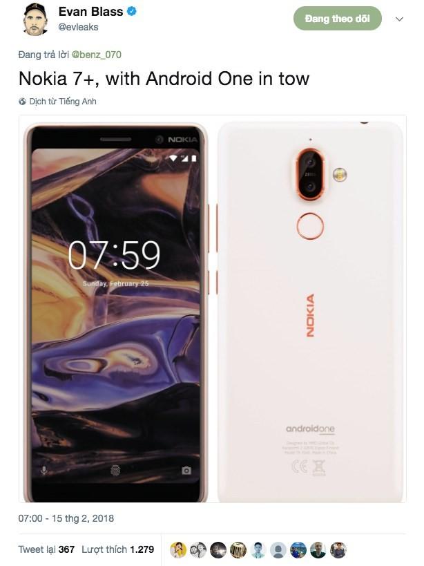 Lộ ảnh Nokia 1 và Nokia 7 Plus, sẽ ra mắt tại MWC 2018 - Ảnh 2