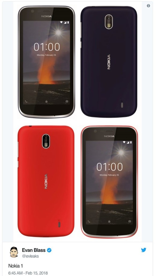 Lộ ảnh Nokia 1 và Nokia 7 Plus, sẽ ra mắt tại MWC 2018 - Ảnh 3
