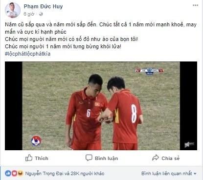 Mùng 1 Tết, dàn sao U23 Việt Nam chúc gì trên Facebook? - Ảnh 7