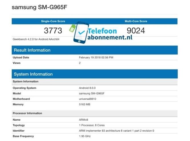 Galaxy S9+ đạt điểm hiệu năng kỉ lục trên Geekbench - Ảnh 2