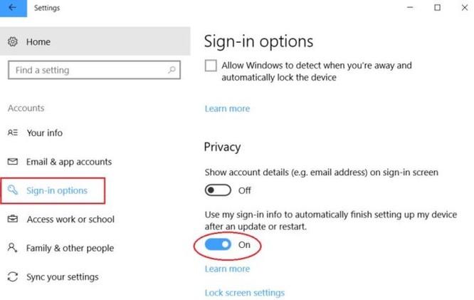 Mẹo nhỏ ngăn không cho Windows 10 mở lại các ứng dụng khi khởi động máy tính - Ảnh 3