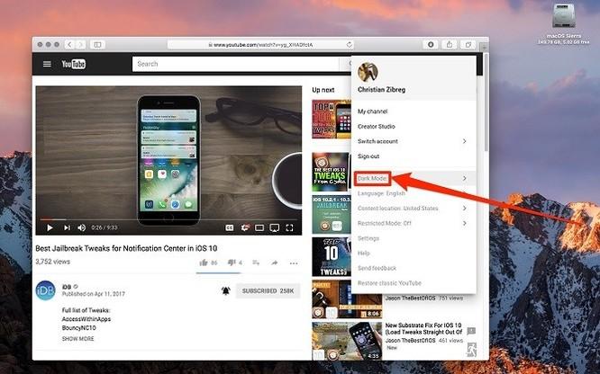 Cách bật chế độ màu tối của YouTube trên các thiết bị iOS - Ảnh 5