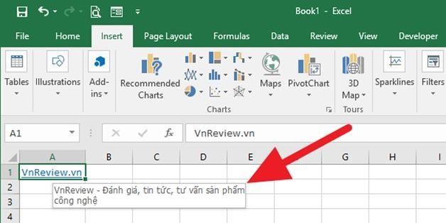 Hướng dẫn tạo gợi ý xuất hiện khi rê chuột lên một siêu liên kết trên Microsoft Excel - Ảnh 1