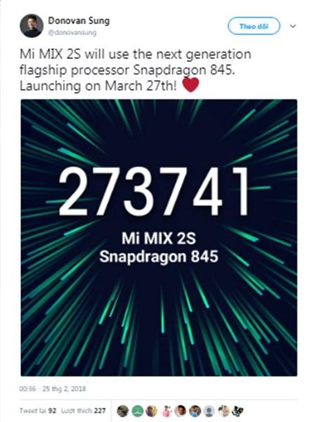 Xiaomi Mi Mix 2S ấn định ngày ra mắt, với vi xử lí Snapdragon 845 - Ảnh 2