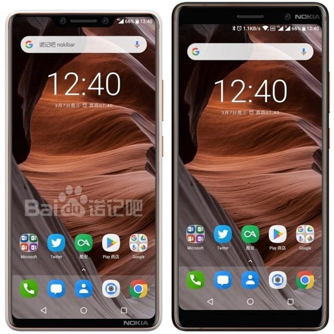 Nokia 9 bất ngờ xuất hiện với mặt trước 'tai thỏ' - Ảnh 1