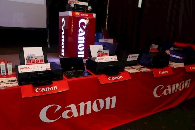 Canon giới thiệu 4 máy in phun dòng G và 2 máy in laser mới - Ảnh 1