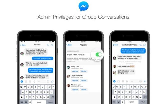Facebook Messenger thêm tính năng quyền quản trị cho nhóm chat - Ảnh 2