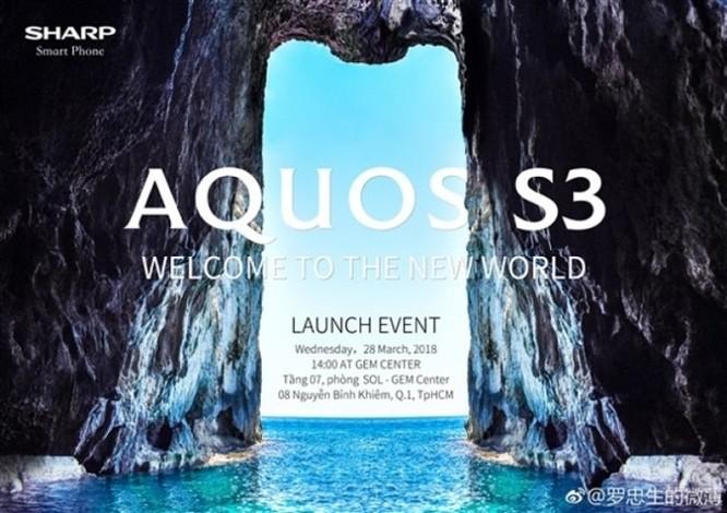 Sharp Aquos S3 sẽ ra mắt vào ngày 28/3 tại Việt Nam - Ảnh 1
