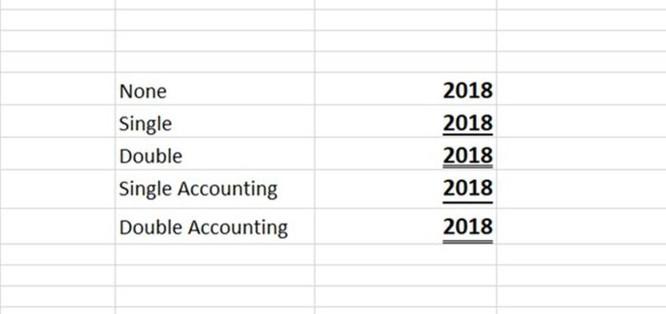 Cách sử dụng các kiểu gạch chân chữ bị ẩn trên Excel - Ảnh 1