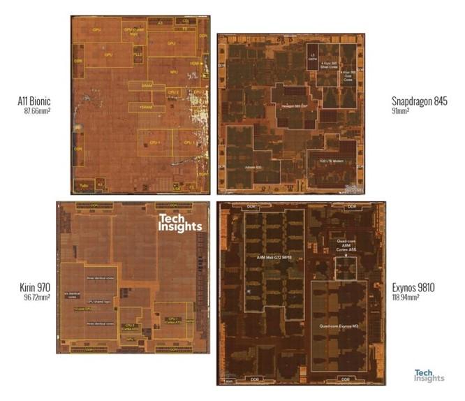 So sánh kích thước của những con chip cao cấp đến từ Qualcomm, Samsung, Huawei và Apple - Ảnh 2