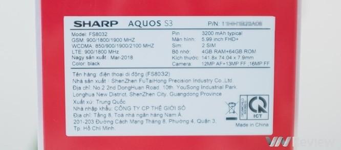 Cận cảnh Sharp Aquos S3 đầu tiên tại Việt Nam: màn tai thỏ 6 inch, Snapdragon 630, giá dự kiến 11 triệu đồng - Ảnh 3