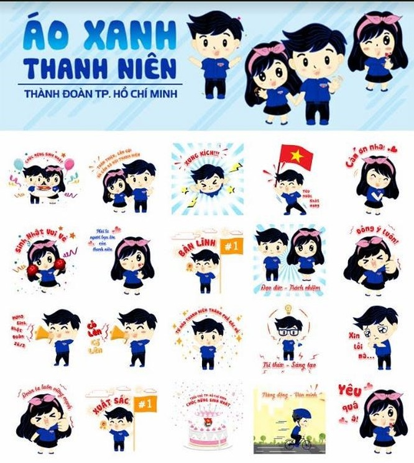 Lần đầu tiên Thành Đoàn TP.Hồ Chí Minh ra mắt bộ Sticker mới trên Zalo - Ảnh 1