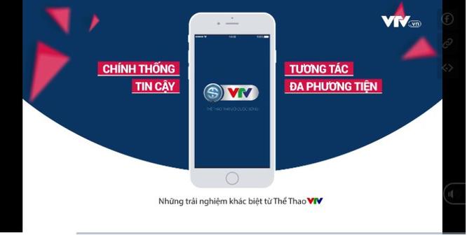VTV phát triển ứng dụng dành riêng cho thể thao VTV Sports trên mobile - Ảnh 1