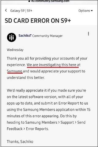Samsung khẳng định đang điều tra lỗi đọc/ghi thẻ nhớ SD trên Galaxy S9 - Ảnh 4
