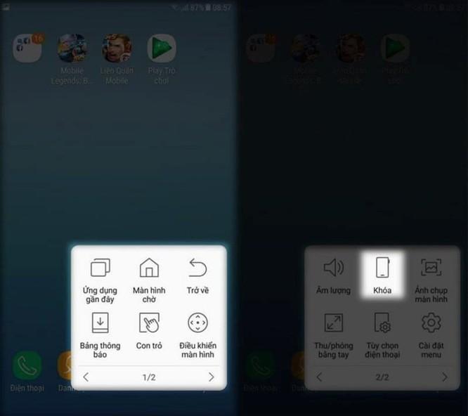 Hướng dẫn khóa màn hình điện thoại Samsung không dùng phím nguồn - Ảnh 2