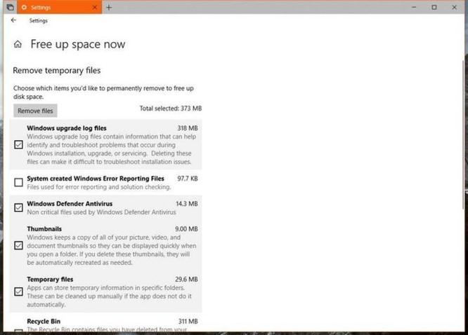 Windows 10 Redstone 4 sẽ 'xóa sổ' tính năng dọn dẹp ổ đĩa Disk Cleanup? ảnh 3