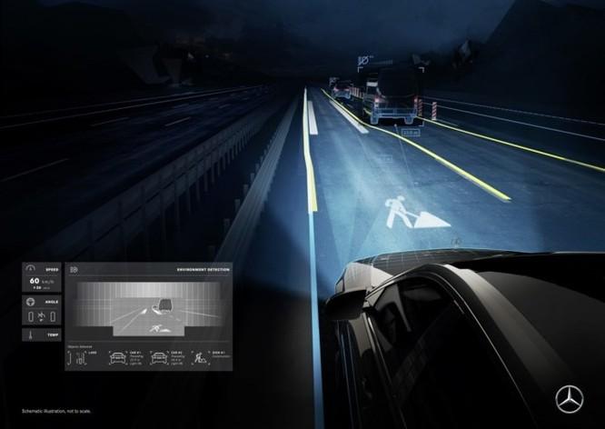 Mercedes-Maybach với Digital Light 'vẽ' được những gì lên mặt đường? ảnh 2