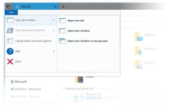 Cận cảnh 'Sets' - tính năng duyệt file theo tab trên Windows 10 Redstone 5 ảnh 1