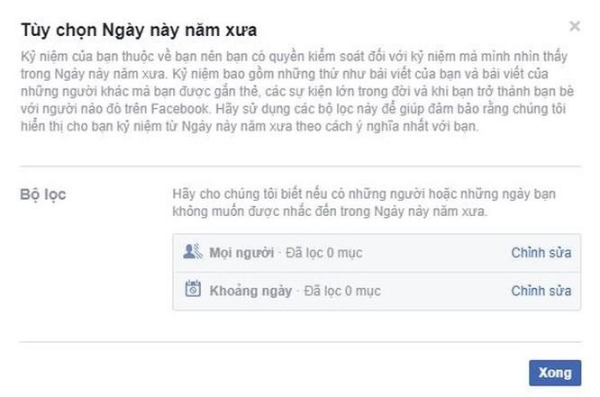 Mẹo nhỏ để Facebook không nhắc lại những kỷ niệm buồn ảnh 3