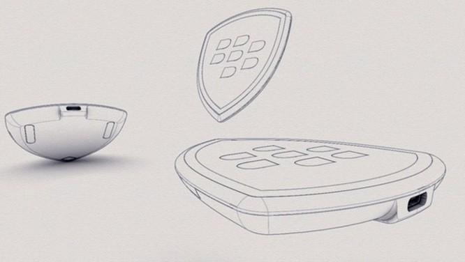 Lộ diện thiết kế bộ sạc không dây độc đáo của BlackBerry ảnh 1