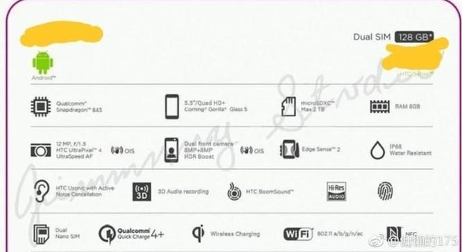 Cấu hình HTC U12+ lộ toàn tập trong ảnh chụp vỏ hộp, RAM 8GB ảnh 2
