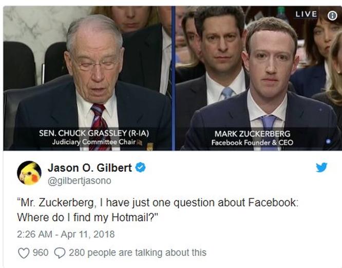 Cư dân mạng 'chế' ảnh gây cười về cuộc điều trần của Mark Zuckerberg trước Quốc hội ảnh 3