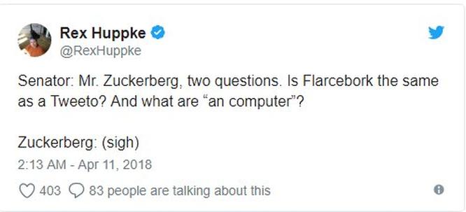 Cư dân mạng 'chế' ảnh gây cười về cuộc điều trần của Mark Zuckerberg trước Quốc hội ảnh 5
