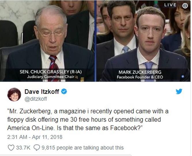 Cư dân mạng 'chế' ảnh gây cười về cuộc điều trần của Mark Zuckerberg trước Quốc hội ảnh 6