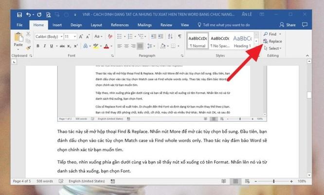 Mẹo định dạng nhanh từ hoặc cụm từ xuất hiện nhiều lần trên tài liệu Microsoft Word ảnh 2