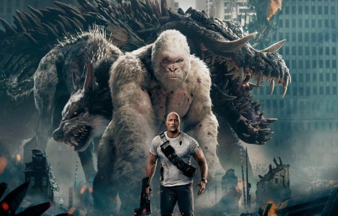Đánh giá phim Rampage: Xem bò mộng The Rock chinh phục 'King Kong biến đổi gen' ảnh 1