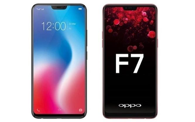 Cùng giá nên mua Oppo F7 hay Vivo V9? ảnh 1
